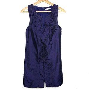 Calypso St. Barth navy blue silk sleeveless dress